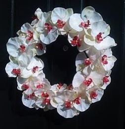 xmas orchid wreath